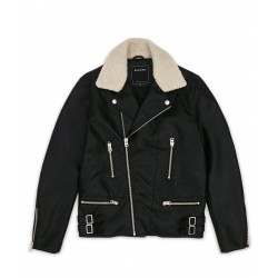 REASON - KINGDOM VARSITY JACKET - BLACK