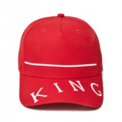 King Apparel - Leyton Curved Peak - Crimson