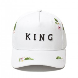 King Apparel - Stepney Curved Peak - White