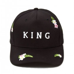 King Apparel - Stepney Curved Peak - Black
