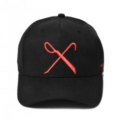 King Apparel - Hardgraft Curved Peak - Black/Red