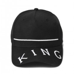 King Apparel - Leyton Curved Peak - Black