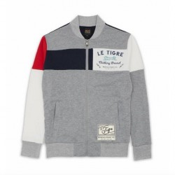 LE TIGRE - COLLINS FULL ZIP TRACK JACKET - GREY/WHITENAVY/RED