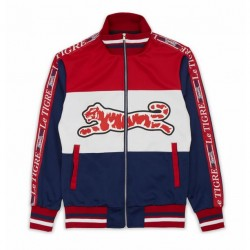 LE TIGRE - TRI COLOR TRACK JACKET - RED/WHITE/NAVY