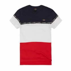 LE TIGRE - TRI COLOR T-SHIRT - RED/WHITE/NAVY