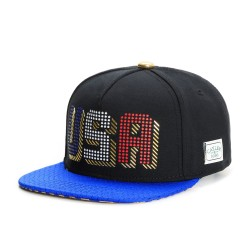 Cayler And Sons GL - United We Stand Snapback Cap - Black / Royal Blue / Gold