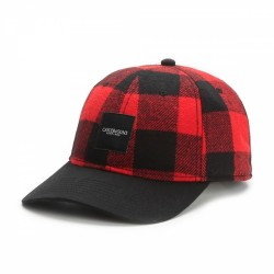 Cayler And Sons BL -Legend Curved Cap - Red Checked/Black