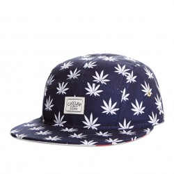 Cayler And Sons Budz & Stripes 5Panel - Deep Navy/White