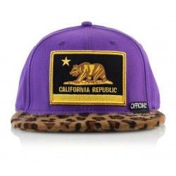 Official - Cali Purps Snapback - Purple/ Gold Crown