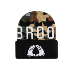 Cayler And Sons WL - Brooklyn Soldier Old School Beanie  - Woodland / Black / White