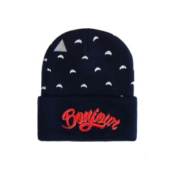 Cayler And Sons WL - Bonjour Old School Beanie  - Navy / Red / White