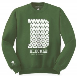 Block Limited - B College Crew - Green Forrest