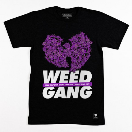 Block Limited - Weed Gang Tee - Black/PurpleBudz
