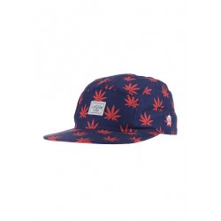 Cayler And Sons Budz & Stripes 5Panel - Deep Navy/ Red
