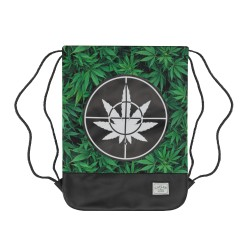Cayler&Sons GL - Defend Your Crops Gymbag - Green leaves/Black
