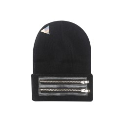 Cayler&Sons BL - ZIPPED OLD SCHOOL Beanie - Black/Gold