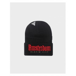 Cayler&Sons WL - Amsterdam Old School Beanie - Black/Red/Gold