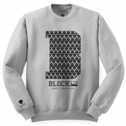 Block Limited - B College Crew - Grey