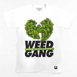 Block Limited - Weed Gang Tee - White/GreenBudz