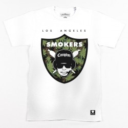 Block Limited - Smokers Tee - White/WeedCamo/Black