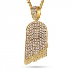 King Ice - 14K Gold CZ Bandana Pharaoh Necklace