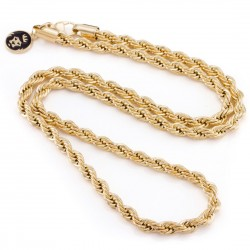 King Ice - 6mm, 14K Dookie Chain Necklace - 26''