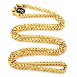 King Ice - 2,5 mm 14K Gold Stainless Steel Necklace 26""